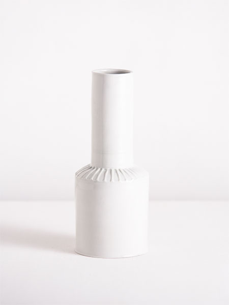vase with molded shoulder portion
